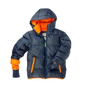 C9 Champion Navy Orange Puffer Winter Jacket Youth